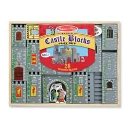 CASTLE BLOCKS WOODEN PLAY SET - CASTILLO BLOQUES DE MADERA