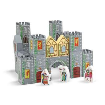 CASTLE BLOCKS WOODEN PLAY SET - CASTILLO BLOQUES DE MADERA