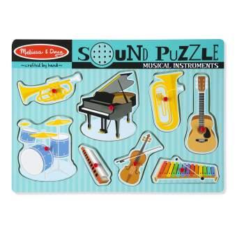 PUZZLE DE MADERA CON SONIDO - INSTRUMENTOS MUSICALES